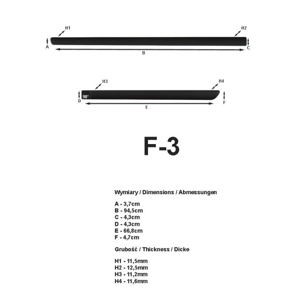 baguettes lat rales de protection duster 2011. Black Bedroom Furniture Sets. Home Design Ideas