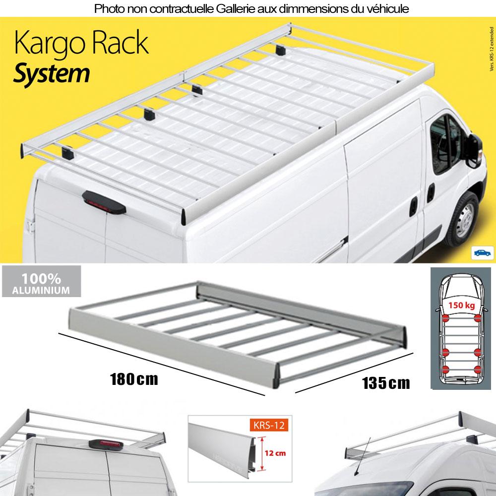 galerie de toit volkswagen caddy chassis tous types 2004 2015 traverse 12cm. Black Bedroom Furniture Sets. Home Design Ideas