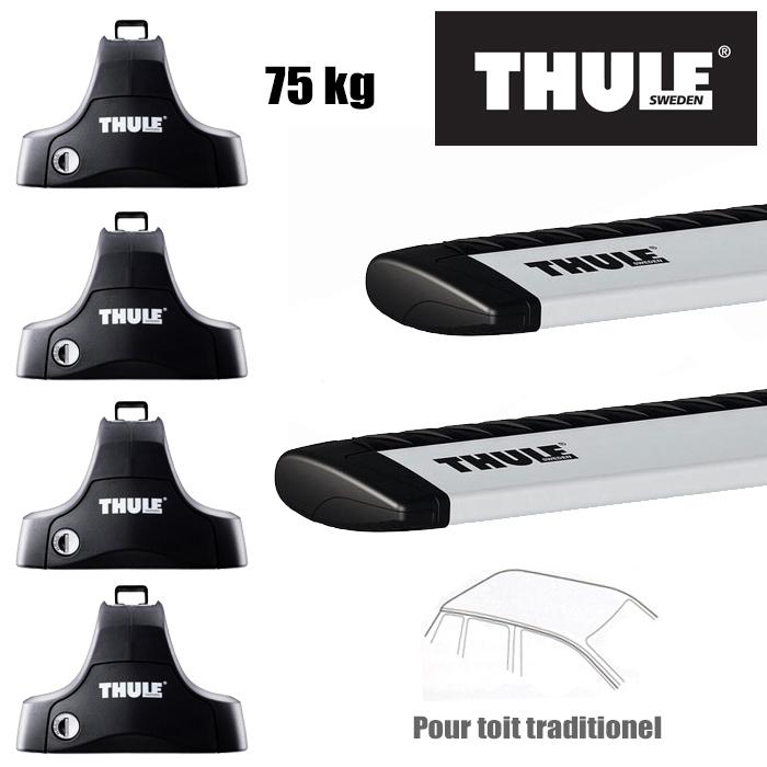 barres de toit thule pour ford s max 5 portes 2006 2015 barre de toit wingbar aluminium. Black Bedroom Furniture Sets. Home Design Ideas