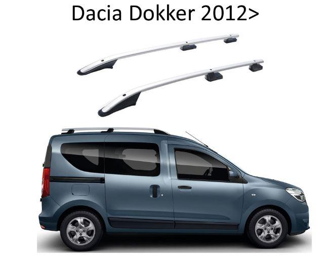 Barres de toit pour Dacia Dokker Nordrive Snap Steel en acier noir Dokker Stepway /à partir de 11//2012 avec serrure antivol