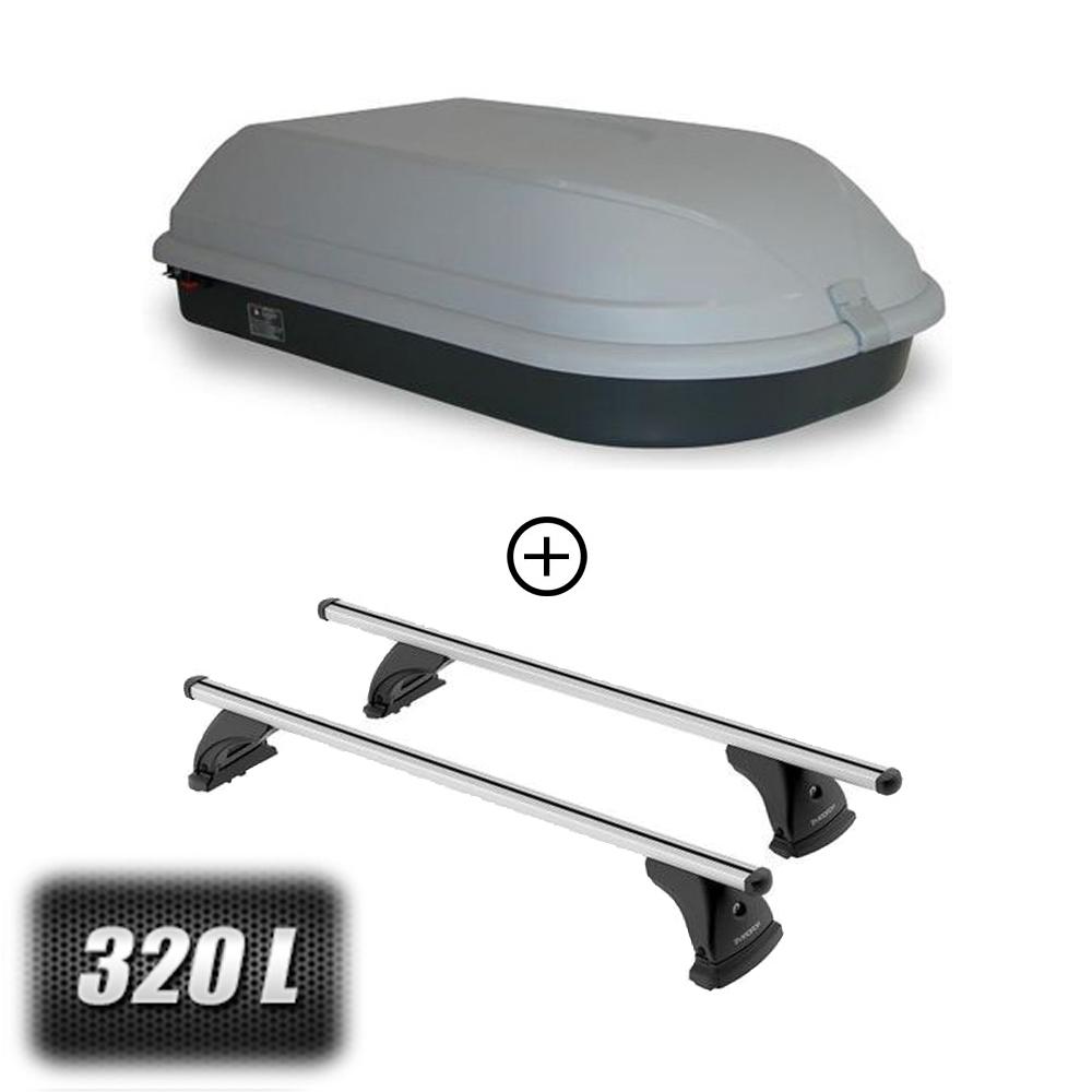 coffre de toit classic 320 litres barres de toit peugeot 206 3 portes a partir de 1998. Black Bedroom Furniture Sets. Home Design Ideas
