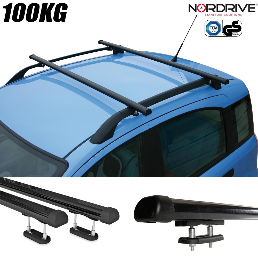 barres de toit volkswagen polo 5 portes nordrive club acier