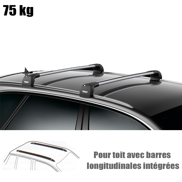 barres de toit thule pour citroen c4 aircross 5 portes a partir de 2012 barre de toit wingbare. Black Bedroom Furniture Sets. Home Design Ideas