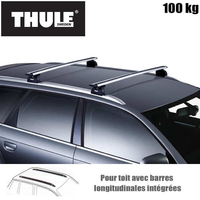barres de toit thule pour audi a3 sportback 5 portes a partir de 2012 barre de toit wingbar. Black Bedroom Furniture Sets. Home Design Ideas